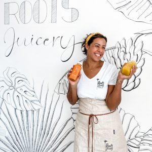 Sandrine Adeline the face Behind Roots Juicery Seychelles